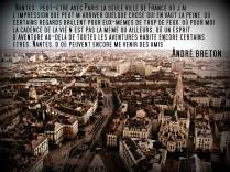 de Nantes dende a Torre de Bretaña, e cita de André Bretón