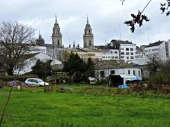 Vista da Catedral dende a Rua do poeta Noriega Varela