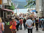 Rúas de Ortigueira durante o festival