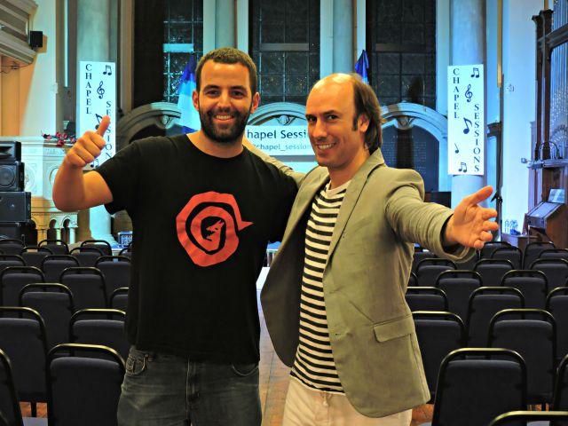 Con Carlos nas Chapel Sessions