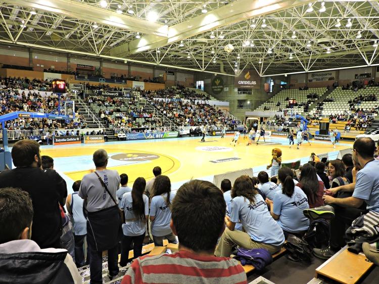 Pazo dos Deportes de Lugo no Breogán-Melilla da 3ª xornada da LEB Ouro 2015/16
