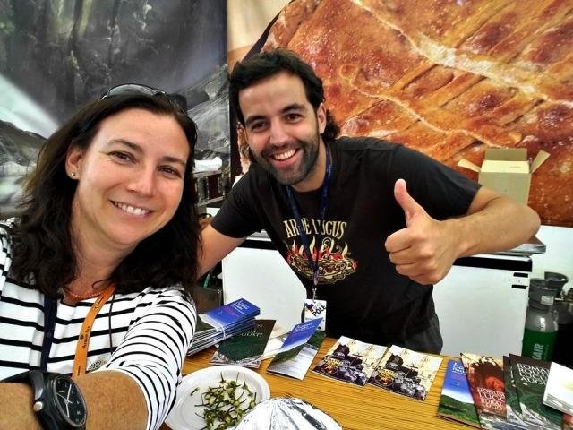 Con Géraldine no pavillón de Galicia do FIL 2016