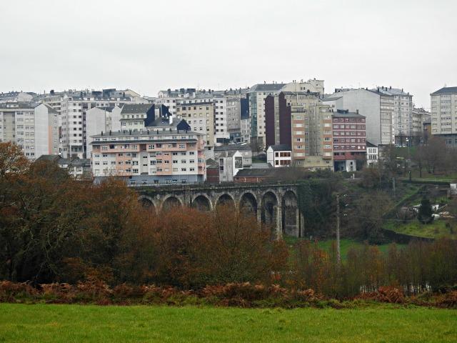 Ponte da Chanca (1871-1874), chegada a Lugo