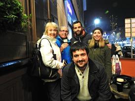 Con Peggy, PJ, Álvaro e Anuska