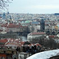 Vistas da cidade vella dende o Castelo de Praga