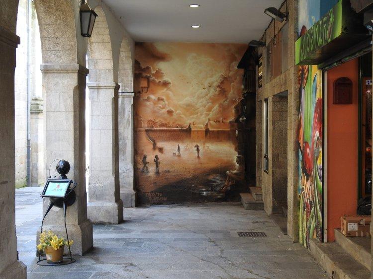 O mural da rúa Bo Xesús, o último traballo de Concepto Circo